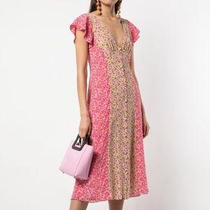 NWT Cinq à Sept Jessica Colorblock Floral dress